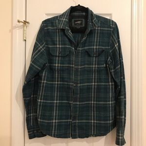Green O'Neill Flannel Plaid Button Down Shirt